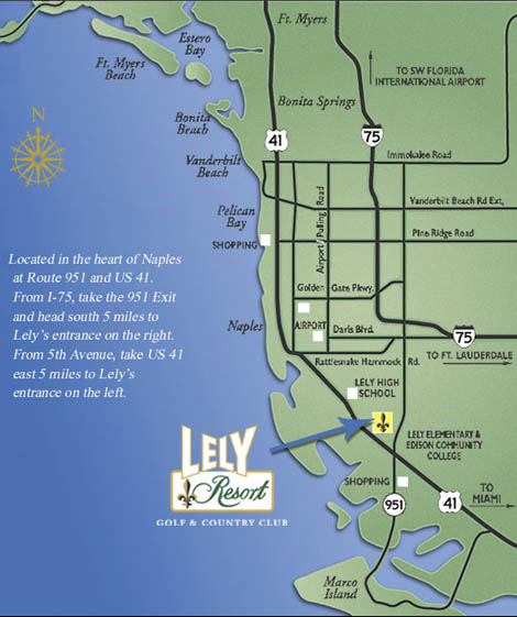 Florida Map Directions.Lely Resort Vacation And Holiday Rentals Naples Florida Maps